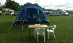 One of our pre-erected Family Luxury tents
